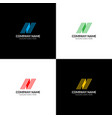 letter n with lines logo icon flat design vector image vector image