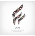 light people sign 3d vector image vector image