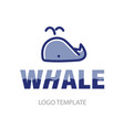 linear stylized drawing of whale vector image