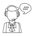 man headphone bubble icon