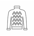 Men sweater icon outline style vector image vector image