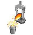 metallurgical ladle vector image