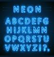neon font city neon blue font english city blue vector image vector image
