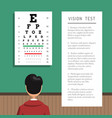ophthalmologist eye clinic vector image vector image