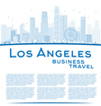 Outline Los Angeles Skyline vector image vector image