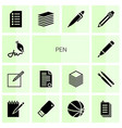 pen icons vector image vector image