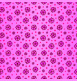 pink seamless pattern with sakura vector image