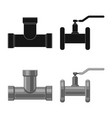 pipe and tube logo set vector image vector image