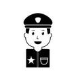 portrait policeman smiling with hat uniform vector image vector image