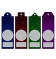 Price label tag Winter sale Eps 10 vector image vector image