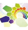 rainbow cell tunnel vector image vector image