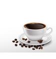 realistic coffee cup vector image vector image