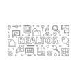 realtor concept horizontal in vector image