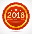red christmas badge 2016 happy new year vector image vector image