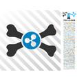 ripple death flat icon with bonus vector image vector image