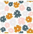 seamless floral pattern in doodle style with vector image vector image