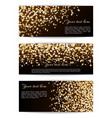 set banners with confetti stars vector image vector image