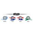 set football or soccer national team group d vector image