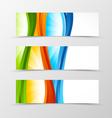 set header banner wave design vector image vector image