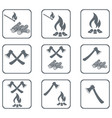 set of campfire icons vector image vector image