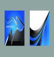 set of vertical business card vector image vector image