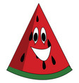 smiling watermelon print on white background vector image
