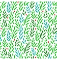 Subtle green leaves floral seamless pattern on vector image vector image