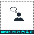 thought icon flat vector image vector image