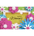 trendy pink blue happy women s day 8 march vector image