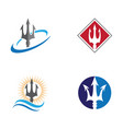 trident logo template icon vector image vector image