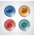 Video movie and media icon set vector image