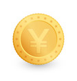 yen gold coin isolated on white background vector image vector image