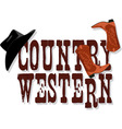 Country Western banner