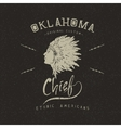 Vintage trademark with indian chief vector image