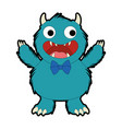 male furry monster character vector image