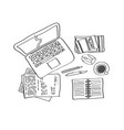 workplace sketch 1 vector image
