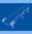 3d outline conveyor belt rendering of vector image
