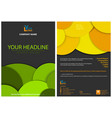 Abstract graphic leaflet design with circles