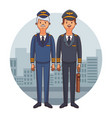 airliners pilots cartoons vector image