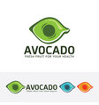 avocado logo design vector image
