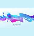 background with abstract multicolored flow shapes vector image vector image