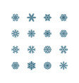 blue snowflakes icon on white background vector image vector image