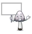 bring board shaggy mane mushroom character cartoon vector image