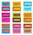 Business Card Retro Colorful Simple Layout - vector image vector image
