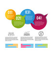 business infographic strategy plan process vector image