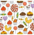 Candy and Muffins Seamless Pattern vector image vector image