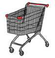 cartoon image of cart icon shopping symbol vector image vector image