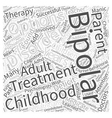 childhood bipolar disorder Word Cloud Concept vector image vector image