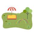 children s sandbox umbrella playground equipment vector image vector image