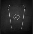 coffee paper takeaway cup vector image vector image